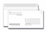 Конверт белый  Е65 (110*220), отрывная лента, подсказ «кому-куда»