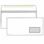 Конверт белый, Е65 (110*220), клей декстрин, окно справа, внутренняя запечатка