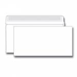 Конверт белый  Е65 (110*220), отрывная лента