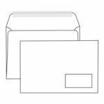 Конверт белый С5  прямой клапан, отрывная лента, правое окно