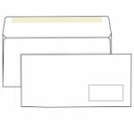 Конверт белый, Е65 (110*220), клей декстрин, окно справа.