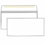 Конверт белый, Е65 (110*220), клей декстрин, внутренняя запечатка
