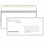 Конверт белый, Е65 (110*220), клей декстрин, подсказ «кому-куда», внутренняя запечатка