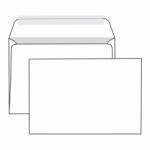 Конверт белый С4 (229*324 мм), прямой клапан, стрип-лента, внутренняя запечатка